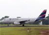 Airbus A319-132, HC-CPZ, da LATAM Airlines Ecuador, realizou o primeiro pouso internacional do aeroporto. (21/03/2019)