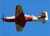 Embraer EMB-312 (T-27 Tucano), FAB 1426, da AFA (Academia da Força Aérea), fazendo uma passagem baixa sobre o aeroporto de São Carlos (SP). (25/03/2015)