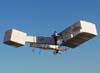 Réplica do 14 bis, fabricada e pilotada por Alan Calassa, voando no Broa Fly-in 2007. (26/05/2007) Foto: Valdemar Júnior