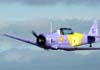 North American T-6D, PT-LDQ, aeronave número 2 da Esquadrilha Oi, comandada pelo Leandro, passando sobre a pista no X Broa Fly-In. (01/06/2008)