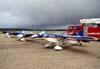 Os ultraleves do Hangar Del Cielo, da Aregentina. A partir da esquerda, o Rans S10 prefixo LV-X331, o RANS S10 LV-X315, e RANS S9 prefixo LV-X301.