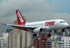 Airbus A319-132, PT-MZD, da TAM (Voando para a Pantanal). (30/11/2010)