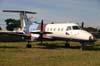 Embraer EMB-120ER Brasília, PT-OZM, ex-Exel Air (Holanda) e Aparte Táxi Aéreo, estacionado desde outubro de 2000. (20/06/2008) Foto: Wesley Minuano.