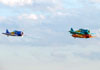 Os North American T-6D do Circo Aéreo. (26/05/2012) Foto: Ricardo Rizzo Correia.