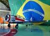 North American T-6D, FAB 1542, PT-TRB, primeira aeronave da Esquadrilha da Fumaça. Este avião foi pilotado pelo inesquecível Coronel Antonio Artur Braga, mesmo depois de ele ter ido para a reserva, pois recebeu essa aeronave como doação para continuar a participar de shows aéreos. Ele faleceu em dezembro de 2003 e o seu avião retornou à Força Aérea Brasileira. Está exposto permanentemente no hangar do EDA.