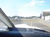 ista do pátio de estacionamento do Campo de Marte, feita na cabine de pilotagem do Tupi, PT-RXC, do Aeroclube de São Paulo.