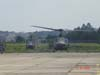 Dois helicópteros Bell UH-1H Iroquois da FAB.