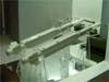 Mísseis Mica IR e RF no stand da MBDA Missile Systems.