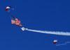Paraquedistas do Liberty Parachute Team. (26/07/2012) Foto: Celia Passerani.