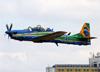 Embraer EMB-314 Super Tucano (A-29A), FAB 5719, da Esquadrilha da Fumaça (EDA - Esquadrão de Demonstração Aérea) da FAB (Força Aérea Brasileira). (09/10/2016)