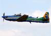 Embraer EMB-314 Super Tucano (A-29B), FAB 5966, da Esquadrilha da Fumaça (EDA - Esquadrão de Demonstração Aérea) da FAB (Força Aérea Brasileira). (09/10/2016)