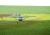 Decolagem do Cessna 180D, PT-BMG, do Skydive Ribeirão. Fotógrafo / Photographer: Ricardo Rizzo Correia.