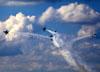 Lockheed Martin F-16 Fighting Falcon dos Thunderbirds (USAF - Força Aérea dos Estados Unidos). (24/04/2015) Foto: Celia Passerani.
